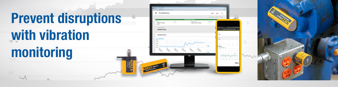 Monitor equipment at a fraction of the cost with Fluke 3560 FC Vibration Sensors...